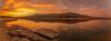 Reflejos y simetrías. (Amparo Hervella) Tags: embalsedesantillana comunidaddemadrid españa spain paisaje embalse agua nube reflejo roca puestadesol atardecer naturaleza color largaexposición panorámina d7000 nikon nikond7000 comunidadespañola