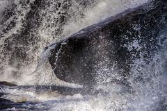 Rock in the River: High Falls, Muskoka (KWPashuk) Tags: nikon d7200 tamron18400mm tamron lightroom nikcollection kwpashuk kevinpashuk waterfall water splashing rock nature river power outdoors highfalls bracebridge ontario muskoka canada