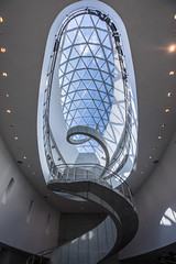 Helix Stairs Up to the Enigma at The Dali Museum (jeff_a_goldberg) Tags: hdr helicalstaircase dali art museum stpetersburg theenigma architecture thedalimuseum salvadordali yannweymouth florida enigma saintpetersburg unitedstates us