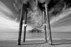 Pierly Departed (ArtGordon1) Tags: westpier brighton eastsussex coast coastal blackwhite blackandwhite england uk davegordon davidgordon daveartgordon davidagordon daveagordon artgordon1 ruin ruins derelict