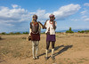 Erbore tribe men in Murale village, Omo valley, Ethiopia (berengere.cavalier) Tags: 2people 2persons abyssinia africa arbore bead beads beauty blackskin blue bluesky body bracelet bracelets chin colorful colorfull colourimage earing earings earth eastafrica erbore ethiopia fashion friends frienship fulllength ground hat headband headrest hornofafrica lappa legs makeup necklace omovalley outdoor outdoors paintedlegs scars skirt sky sock socks soil southethiopia southofethiopia southernethiopia stand standing style tradition traditional traditionnal twopeople twopersons waistup murale