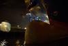the bow (Rasande Tyskar) Tags: hamburg port hafen schiff ship container bow bug reflektionen licht nacht night aufnahme shot reflections free hand nachtaufnahme harbour docks pier terminal