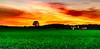 Sunset through Window (bhanuprakashneelaiahgari) Tags: sun sunset sky dramatic drama fields farming farmers grass naturephotography landscapephotography landscape green red clouds longexposure nightphotography nightscapes evening goldenhour golden hour