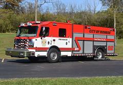 Monroe OH   Engine 62 (kyfireenginephoto) Tags: pumper white liberty mfd middletown lebanon butler ohio rosenbauer fire monroe red engine commander flag