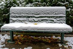 Winter is here now (Poupetta) Tags: bench snow helsinki