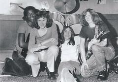 Sardonicus (Raincoat Ron) Tags: sardonicus rockband drumkit evaporatedbrain loonpants 1970s hair