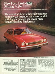 1975 Ford Pinto MPG 2 Door Sedan (coconv) Tags: car cars vintage auto automobile vehicles vehicle autos photo photos photograph photographs automobiles antique picture pictures image images collectible old collectors classic ads ad advertisement postcard post card postcards advertising cards magazine flyer prestige brochure dealer 1975 ford pinto mpg 2 door sedan 75
