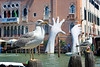 Support by Lorenzo Quinn (Tom Patterson) Tags: venice venezia italy italia europe gondola gondolier buildings architecture water boats seagull bird art sculpture travel sightseeing holiday
