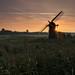 Herringfleet Starburst (Robin Higginson) Tags: wind pump norfolk herringfleet sunrise mist uk