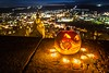Halloween (SonjaS.) Tags: halloween kürbis licht herrenberg deutschland germany kerzen bokeh stadt city stadtmauer pumpkin