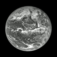 Earth (sjrankin) Tags: 30september2017 edited nasa grayscale osirisrex flyby pacificocean earth northamerica clouds
