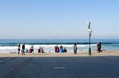 Blue Zarautz (Iker Merodio | Photography) Tags: zarautz blue beach hondartza gipuzkoa euskadi horizon basque country pentax k50 sigma 30mm art urdin