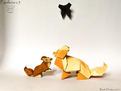 Papillons v.3 - Barth Dunkan. (Magic Fingaz) Tags: anjing barthdunkan chien chó dog hond hund köpek origami origamidog perro pies пас пес собака หมา 개 犬 狗
