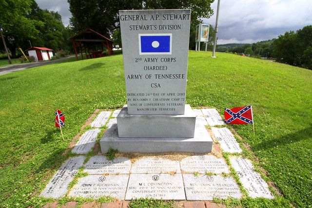 Beech Grove Cemetery - General A.P. Stewart's division monument