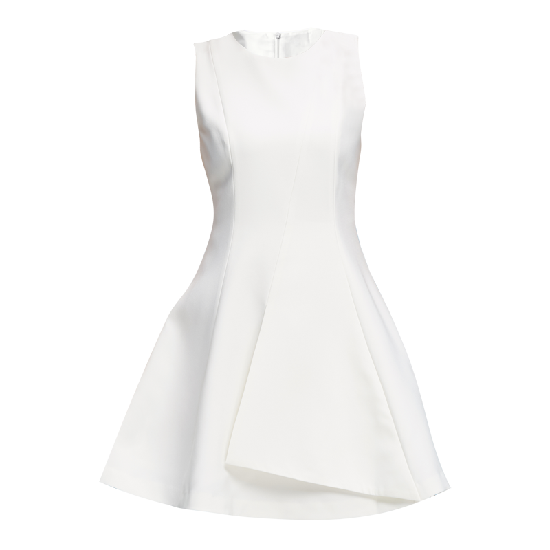 2017 new women's autumn dress, sleeveless Korean lady vest skirt, white small fresh base skirt fashion