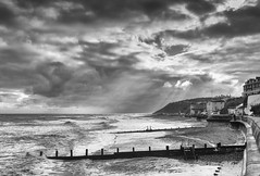 Rough Day In Cromer (andybam1955) Tags: beach cromer storm groynes fishingboats sky northnorfolk landscape coastal norfolk clouds