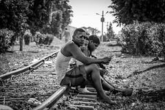 Cuba-4340 (helenea-78) Tags: auteurcuba chemindefer cuba monochrome pays personnes trinidad jeuneshommes jeunes hommes voieferree
