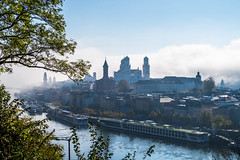 St. Stephan's Cathedral in the Morning Mist - Passau, Bavaria (dejott1708) Tags: st stephans cathedral passau lower bavaria germany cityscape mist morning sun danube river