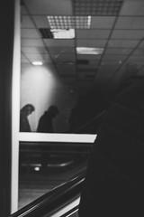 Silhouette (MattusB) Tags: sculpture silhouette reflections elevator strait window blackwhite black white bw bratislava dunaj building interior light automatic sony mirrorless wide angle prime lens a6000