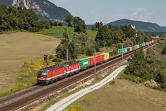1144 071 Pöckau (szakipeti) Tags: double train container tauernbahn austria 1144