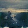 (mari-ann curtis) Tags: sx70 travel polaroid film colour light shadows blue impossibleproject polaroidoriginals norway adventure nostalgia memories water portrait laura preikestolen fjord view horizon clouds sunshine camera girl puddle reflection mountains viewpoint morning roidweek distance week roadtrip marianncurtis explorenorway summer hiking rock