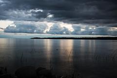 Cloud Armada D7C_5480 (iloleo) Tags: sunset nature manitoulinisland dominionbay reflection longexposure nikon d750 ontario canada clouds landscape