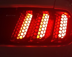 drive (javan123) Tags: honeycomb ford mustang gt cars night light red
