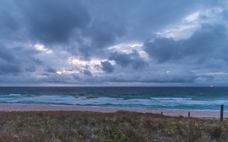 Cloudy and Overcast Daybreak at the Beach
