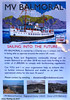 Scotland Greenock the MV Balmoral needs £1.8 million to continue to sail after 2018 poster 21 September 2017 by Anne MacKay (Anne MacKay images of interest & wonder) Tags: scotland greenock poster sign mv balmoral 18 million passenger ship xs1 21 september 2017 picture by anne mackay