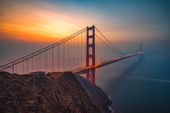 Smoky Sunrise (IzTheViz) Tags: goldengate sanfrancisco bayarea batteryspencer california sunrise bridge a7r sony variotessartfe41635