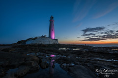 St Marys Lighthouse (R0BERT ATKINSON) Tags: stmaryslighthouse whitleybay lighthouse reflections northeastengland northeastcoast tyneandwear robatkinsonphotography rock sunrise clouds sigma1020 nikond5100
