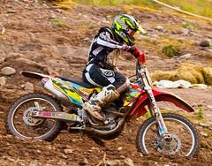 Fritz In The Turn (John Kocijanski) Tags: motorcycle motocross race dirtbike vehicle rider honda people sport canon70300mmllens canon7d