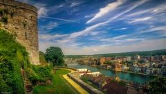 Vue de la Citadelle de Namur (YᗩSᗰIᘉᗴ HᗴᘉS +9 500 000 thx❀) Tags: citadelle sky clouds longexposure hdr 3exp canon canoneos7dmarkii blue water hensyasmine 7dwf