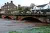 Egremont bridge (Cumberland Patriot) Tags: egremont cumbria river ehen burst banks bank flood cumberland cumbrian landscape vista view town weir water stone bridge