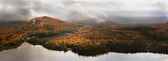 Colors from Above (PixStone) Tags: canada quebec mont tremblant fall autumn mountain national park atmosphere clouds moody fog rain lake nature landscape corniche coolors reflection nikon d7100 water
