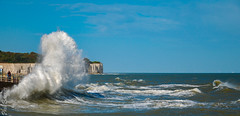 Lively water at Broadstairs (philbarnes4) Tags: broadstairs thanet kent england coast view dslr philbarnes spray