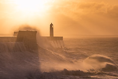 empire of the sun (Star*sailor) Tags: porthcawl sunrise waves storm brian sky clouds wales shadow sun light