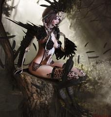 "★ Look 226  ""Magic Forest"" (by Marzia & Shaitan Demon) Tags: monso codex lelutka maitreya eclipsedesign ed sanarae kinkyevent bento bentoavatar events secondlife arpia celeno forest fantasy mitologico magic"