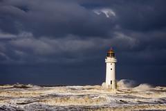 New Brighton storm (Lukasz Lukomski) Tags: newbrighton lighthouse latarnia morska morze sea water woda coast costa wybrzeże clouds chmury wielkabrytania greatbritain landscape england anglia uk unitedkingdom nikond7200 sigma1770 krajobraz lukaszlukomski wirral waves fale