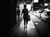 night strider (dr.milker) Tags: taiwan taipei bw nanchangroad street night noiretblanc blancoynegro urban highcontrast woman 台灣 台北 黑白 街拍 南昌路 夜晚 都市 女生 背影 silhouette