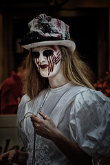 And A Silent Tear Of Blood Dribbles Down Her Cheek (Alfred Grupstra) Tags: halloween spooky horror people death evil costume stagemakeup deadperson zombie humanface women dead celebration oneperson ghost stagecostume maskdisguise mystery fear 964