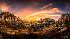 Torcal of Antequera, Spain (jesbert) Tags: torcal antequera malaga españa andalucia spain paisaje landscape atardecer sunset rocks sony a7r2 irix 15mm panorama cielo roca nubes clouds