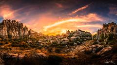 Torcal of Antequera, Spain (jesbert) Tags: torcal antequera malaga españa andalucia spain paisaje landscape atardecer sunset rocks sony a7r2 irix 15mm panorama cielo roca nubes clouds