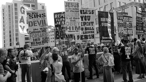 From flickr.com: Religious right protests Atlanta's Pride Parade, 2017 {MID-288513}