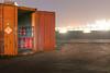 Invitation to dance (Markus Lehr) Tags: container harbour gasbottles opendoor refinery light manmadelandscape nopeople peoplelessness industrial urbex lightpollution nightshot longexposure hamburg germany markuslehr