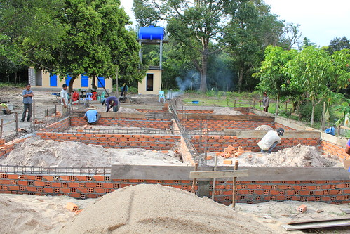 Behold! Foundation is set for new kitchen wing