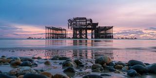Sunset at Brighton's West Pier