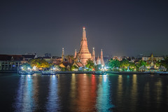 arun temple (Flutechill) Tags: night architecture thailand bangkok famousplace wat buddhism pagoda asia cultures stupa river dusk twilight travel templebuilding cityscape tourism tower urbanskyline