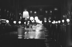 Hogwarts on Film (Sheng P.) Tags: hogwarts harrypotter magic oxford oxfordshire university lamp dinning hall table film 35mm christ church great underexposure ilfordhp5 jupiter jupiter3 leica m3 leicaphotos 135mm