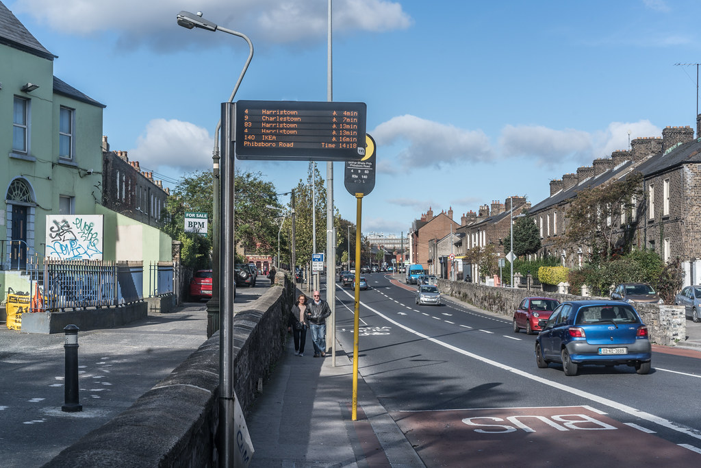 BUS STOP ON PHIBSBORO ROAD [THIS IS NEXT TO THE NEW LUAS TRAM STOP AT BROADSTONE]-133440